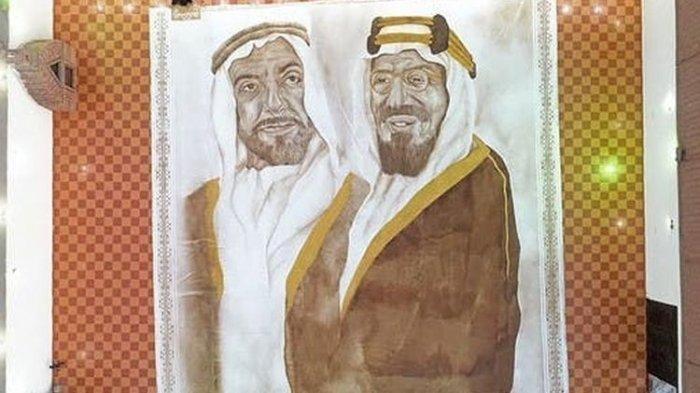 Seniman Ini Buat Lukisan Terbesar dari Bubuk Kopi, Jadi Wanita Arab Pertama Pecahkan Rekor Dunia