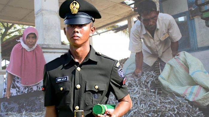 Khusnul Khatam (20), anak dari pasangan Taufik (60), dan Cut Kasihan (52), warga Desa Lhok Pawoh, Kecamatan Manggeng, Abdya yang lulus sebagai prajurit TNI-AD.