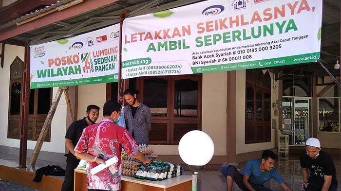 Respons Paceklik Ekonomi, ACT Aceh Buka Posko Lumbung Sedekah Pangan