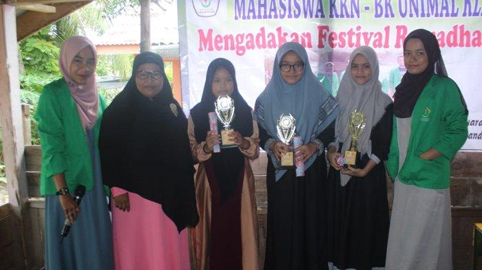 Bersama Anak Pengajian, Mahasiswa KKN Unimal Adakan Festival Ramadhan