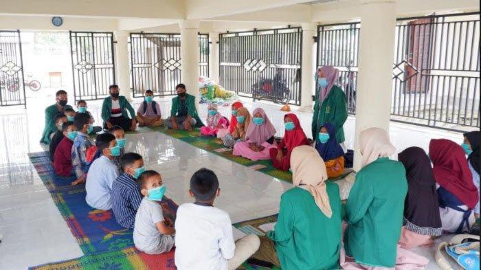 Mahasiswa Unimal Ajari Anak PAUD Gampong Seunebok Cegah Covid-19