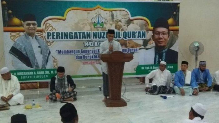 Pemkab Bireuen Peringati Nuzulul Quran di Masjid Agung, Penceramah Rektor IAIN Lhokseumawe