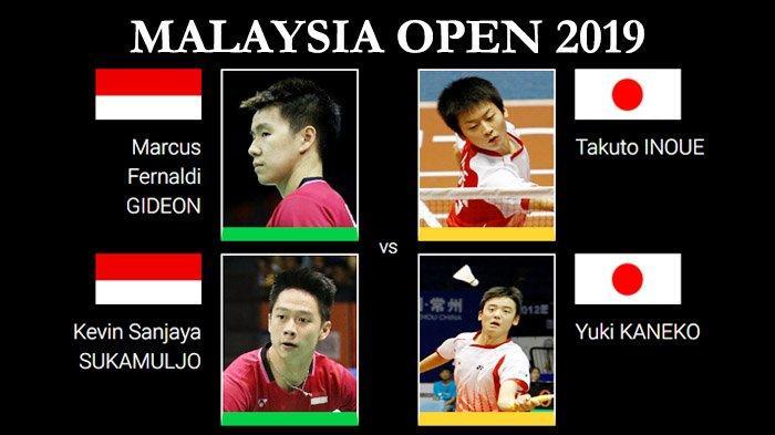 SESAAT LAGI, Link Live Streaming Marcus/Kevin Vs Inoue/Kaneko Babak 16 Besar Malaysia Open 2019