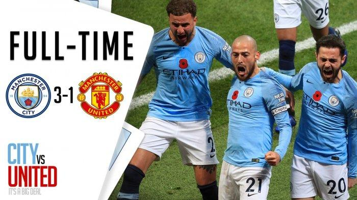 Hasil Liga Inggris - Manchester United Terjungkal di Markas Manchester City