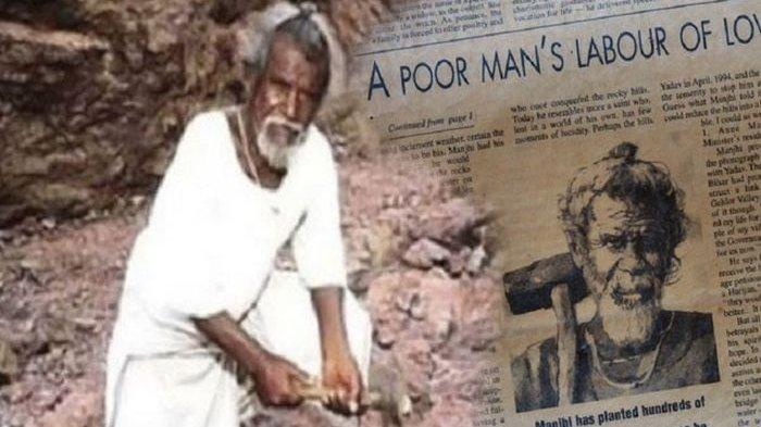 Kakek Manjhi Sempat Dianggap Gila Karena Nekat 'Membelah Gunung' Selama 22 Tahun Demi Desanya