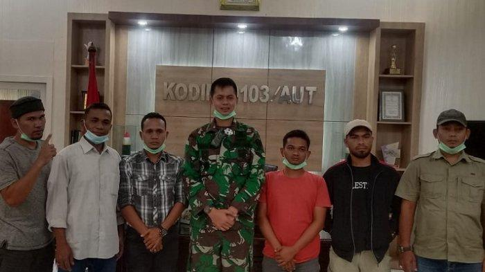 Mantan Napi Teroris Temui Dandim Aceh Utara