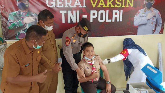 42 Peserta Kwarcab Pidie Jaya Jalani Vaksinasi Sebelum Ikuti Jambore Daerah di Langsa
