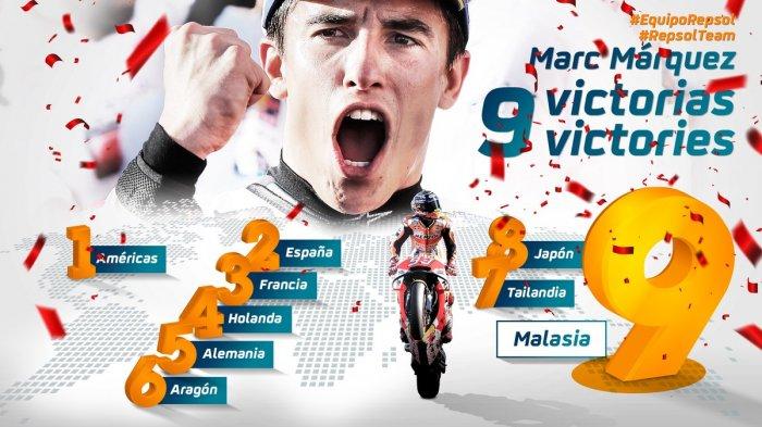 Hasil Lengkap MotoGP Malaysia 2018 - Marc Marquez Luar Biasa, Rossi Berujung Petaka