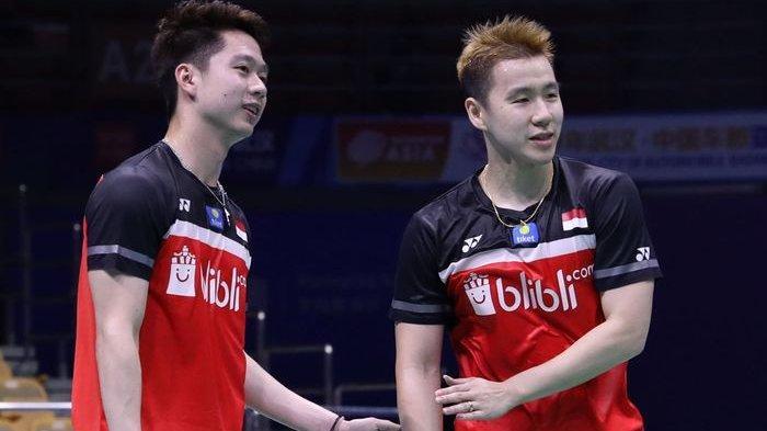 Hasil Kejuaraan Asia 2019 - Tumbangkan Wakil China, Marcus/Kevin Lolos ke Semifinal