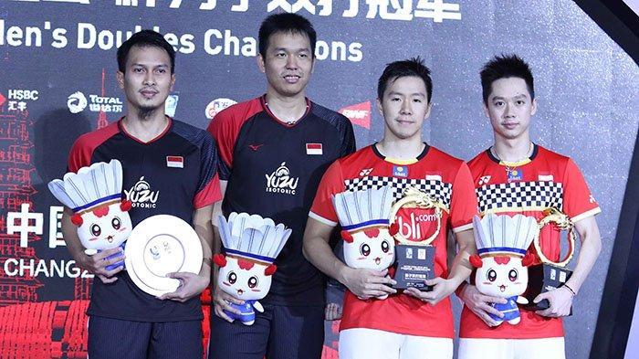 Hasil Final dan Daftar Juara China Open 2019 - Marcus/Kevin Sumbang Satu Gelar untuk Indonesia