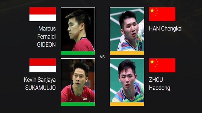 Kejuaraan Dunia Bulutangkis 2018 - Marcus/Kevin dan 10 Wakil Indonesia Main Hari Ini Pukul 11.00 WIB