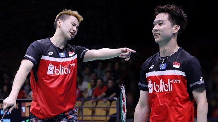 Indonesia Open 2019 - Marcus/Kevin Lawan Wakil Jepang yang Mereka Kalahkan di Final Tahun Lalu