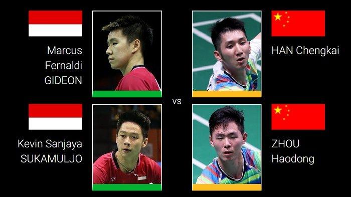 Hasil Lengkap Drawing BWF World Tour Finals 2018 - Marcus/Kevin Satu Grup dengan Dua Wakil China