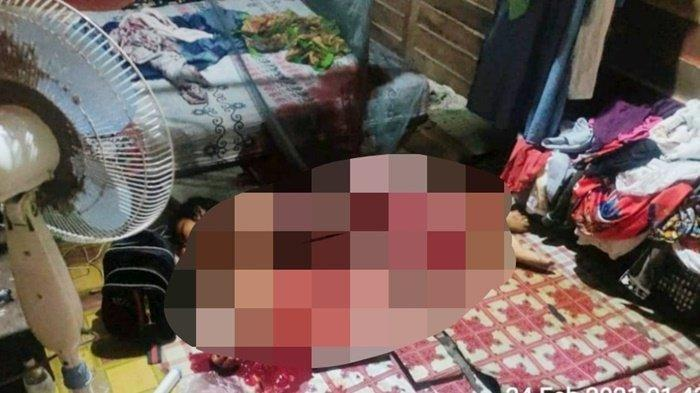 Istri Tewas Bersimbah Darah, Suami Tewas Tergantung, Anak Syok Lihat Orang Tua, Polisi Dalami Motif