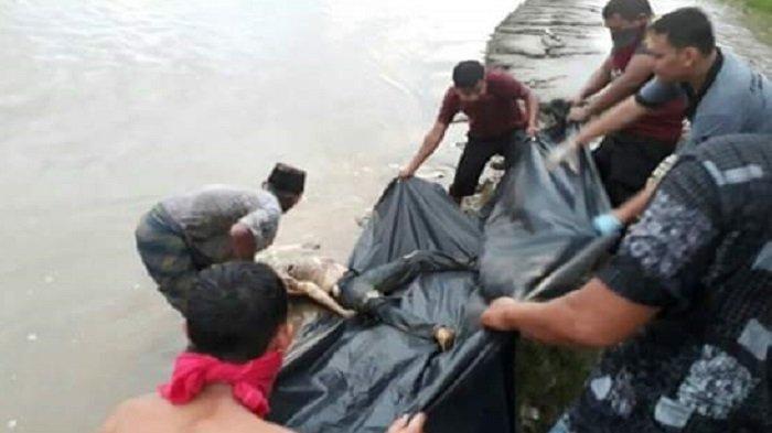 Sesosok Mayat Tanpa Identitas Ditemukan Mengapung di Sungai Souraya Subulussalam