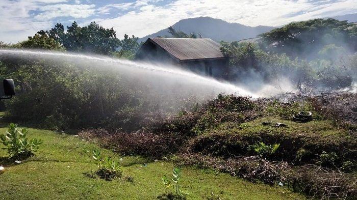 Lahan Seluas 1,5 Hektare di Gampong Lamkuta Blang Me Terbakar