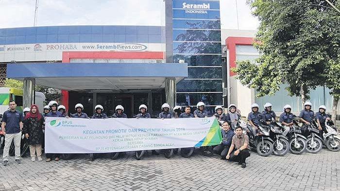 Bpjs Ketenagakerjaan Banda Aceh Bagikan Helm Serambi Indonesia