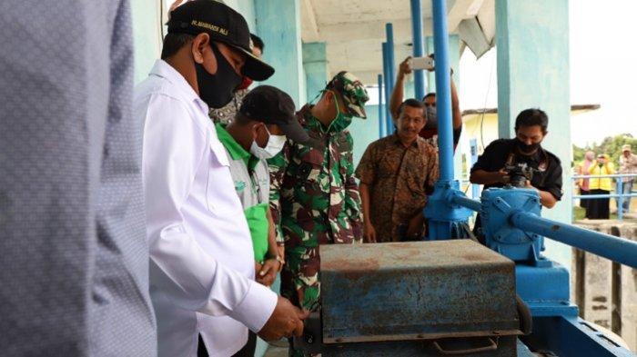 Jaga Ketahanan Pangan, Pemkab Aceh Besar dan Kodim Lauching Pelepasan Air Mengawali Musim Tanam Gadu
