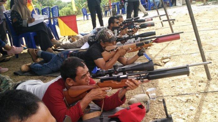 Puluhan Peserta Ikuti Lomba Menembak Eksekutif Senapan Angin Polres Aceh Besar