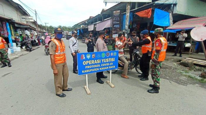 Tim Gabungan di Nagan Raya Razia Warga yang tidak Pakai Masker