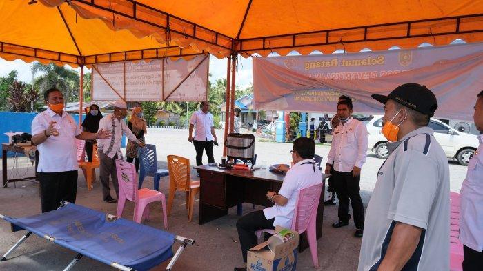Wali Kota Subulussalam Pantau Posko Covid-19 di Perbatasan, Jelang Berakhirnya Lokasi Karantina