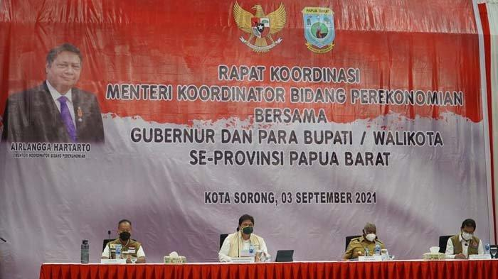 Papua Barat Jadi Provinsi Paling Rendah Kasus Covid, Menko Airlangga:Ekonominya Harus Terus Didorong