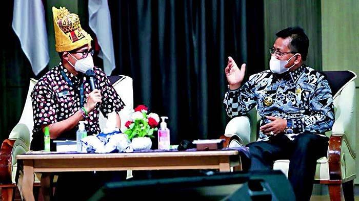 Di Hadapan Menparekraf RI Sandiaga Uno, Aminullah Promosikan 5 Destinasi Wisata Favorit Banda Aceh