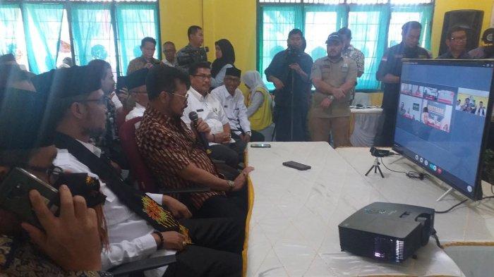 Mentan RI di Bireuen Telekonferensi dengan Sejumlah BPP di Indonesia, Ini Bahasannya