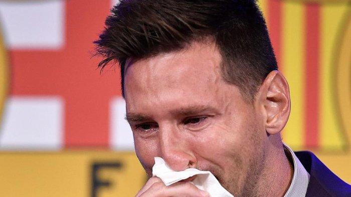 Hujan Air Mata Iringi Kepergian Messi dari Barca: Saya tak Menyesal, Saya sudah Memberi yang Terbaik