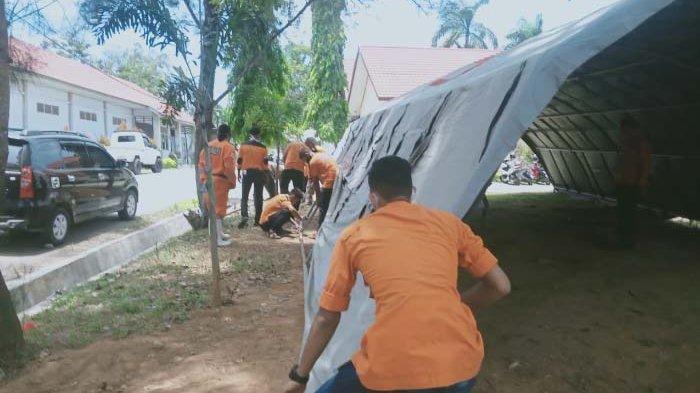 RSU Cut Meutia Aceh Utara Mulai Fungsikan Tenda Untuk Screening Pasien
