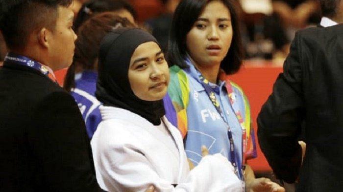Miftahul Jannah Atlet Blind Judo Asal Abdya Bersama Penyanyi Dangdut Galang Donasi untuk Banjir NTT