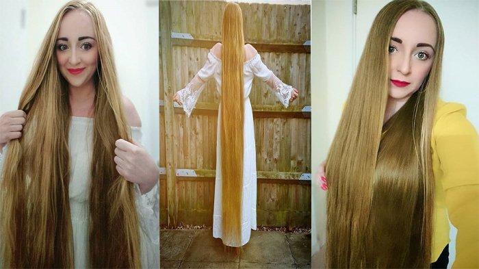 Miliki Rambut Seperti Rapunzel, Wanita Ini Beri Tips Rambut Panjang Hingga Jadi Daya Tarik Pria