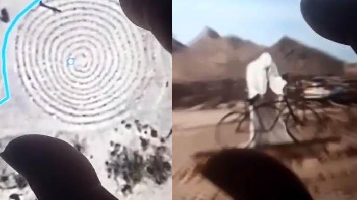 Misteri Makhluk Berjubah Putih di Google Earth Terpecahkan, Dikira Kota Hantu dengan Lingkaran Setan