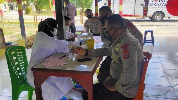 Brimob Aramiah Sumbang Darah 77 Kantong