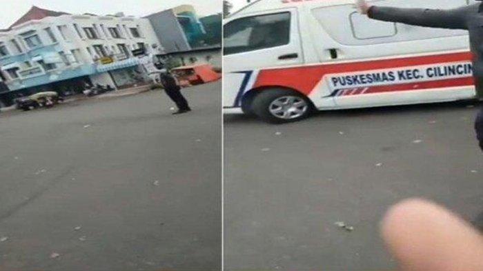 Video Viral Memperlihatkan Mobil Ambulan Tertahan Iringan Mobil Pejabat, Rabu(23/6/2021), Sang Pengunggah Video Berteriak Ke Iringan Tersebut Agar Memperioritaskan Iringan Mobil Ambulan Yang Membawa Pasien Kritis