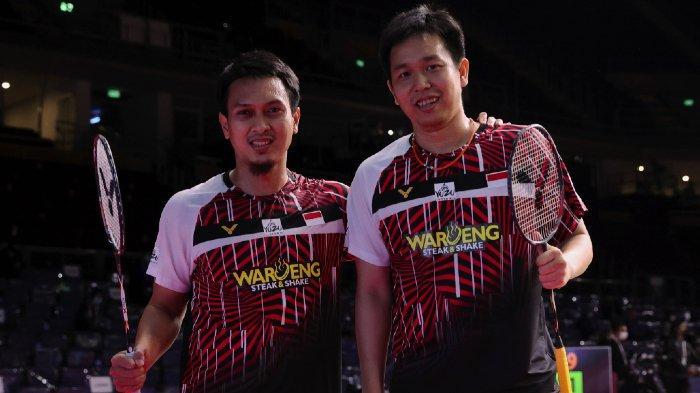 Mohammad Ahsan/Hendra Setiawan tampil di ajang Yonex Thailand Open 2021 (12-17 Januari 2021) di Impact Arena, Bangkok