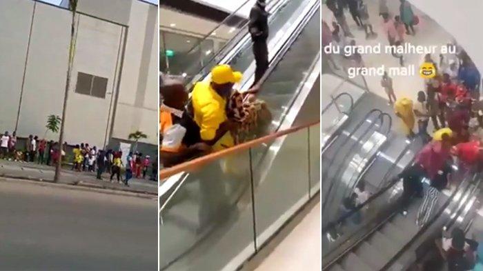 Momen Warga Kamerun Kunjungi Grand Opening Mall, Pertama Naik Escalator Hingga Ada yang Terjungkal