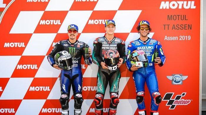 Link LIVE STREAMING MotoGP Belanda 2019 - Fabio Quartararo Start di Depan Vinales, Rins dan Marquez