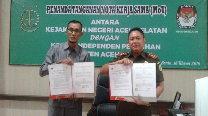 Antisipasi Gugatan Hukum Terkait Pemilu, KIP dan Kejari Aceh Selatan Jalin Kerja Sama