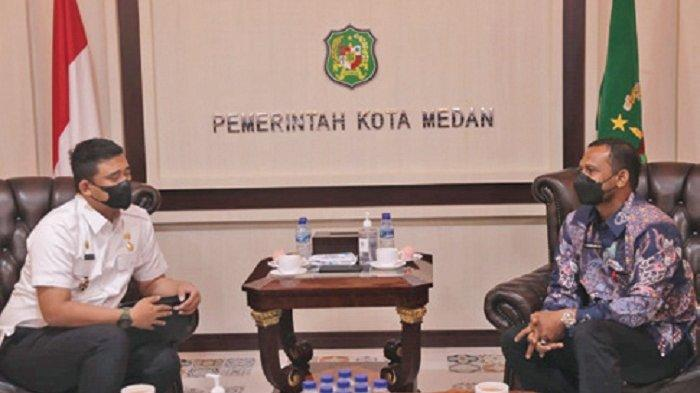 Temui Wali Kota Medan Bobby, Bupati Rocky Paparkan Potensi Aceh Timur