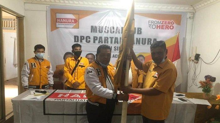 Mulyadi SE Pimpin Partai Hanura Aceh Singkil