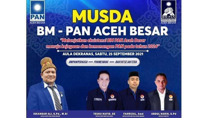 BM-PAN Aceh Besar Gelar Musda, Ini Tiga Kandidat Ketua Bersaing