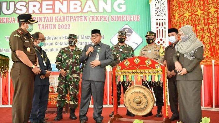 Bupati Simeulue Buka Musrenbang RKPK Tahun 2022