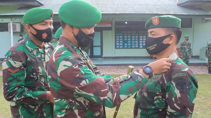 Dandim Agara Pimpin Koorps Raport, 42 Prajurit Naik Pangkat dan Pindah Satuan