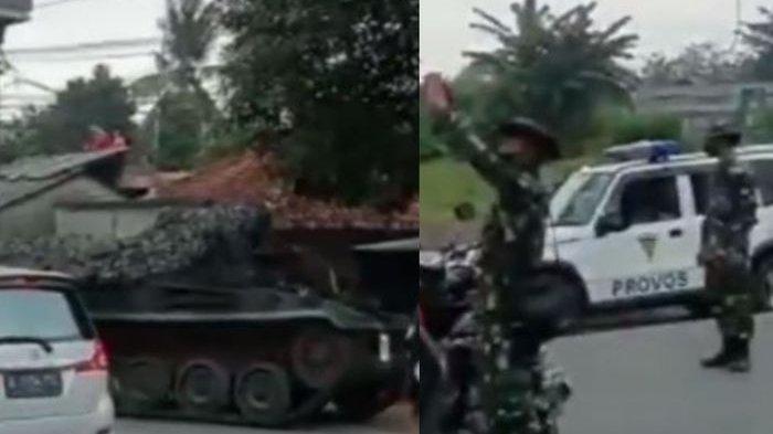 Viral Video TNI Pakai Tank Disebut Jaga Penyekatan Mudik Lebaran 2021, Ini Fakta Sebenarnya