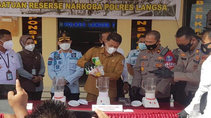 Januari-September, Polres Langsa Ungkap 84 Kasus Narkoba dan Tangkap 126 Tersangka