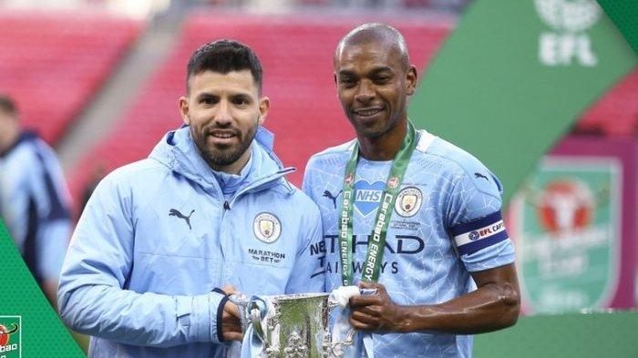 Aksi Udara Aymeric Laporte Bawa Manchester City jadi Kampium Piala Liga Inggris