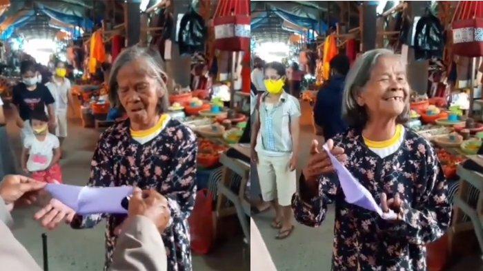 Diberi Masker Oleh Petugas, Ungkapan Nenek Ini Undang Gelak Tawa: I Love You Bertubi-tubi Pak Polisi