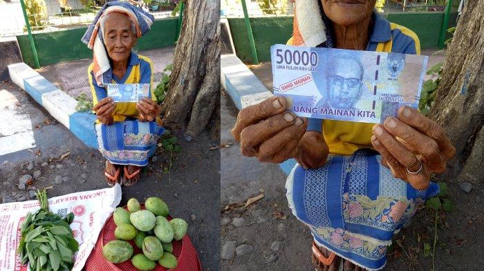 Nenek Penjual Mangga Ditipu Pakai Uang Rp 50 Ribu Mainan, Menangis Saat Tahu Hingga Kisahnya Viral