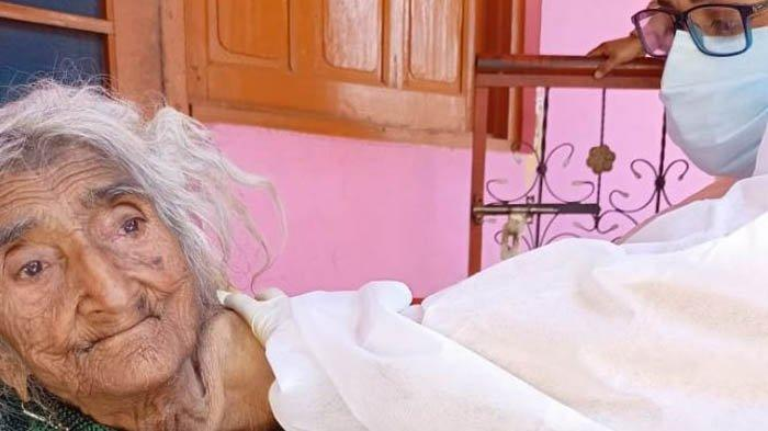 Nenek Tertua di Dunia Disuntik Vaksin Covid-19, Berusia 124 Tahun Asal India